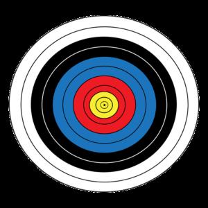 Zielscheibe für Bogenschützen